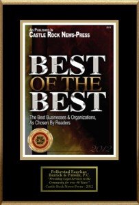 Best of the Best in Castle Rock CO
